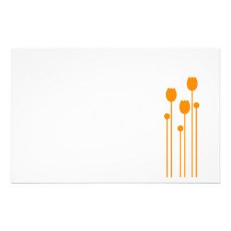 Papel de nota design tulpe papel de carta alaranja papelaria