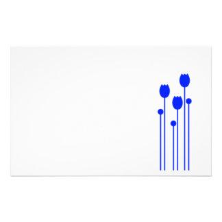 Papel de nota design tulpe papel de carta azul blu papelaria