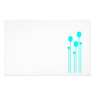 Papel de nota design tulpe papel de carta verde am papeis personalizados