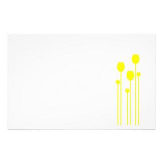 Papel de nota design tulpe papel de carta verde am papel personalizado
