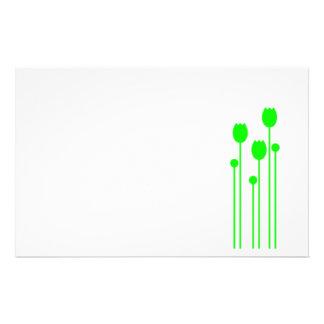 Papel de nota design tulpe papel de carta verde gr papelaria personalizada