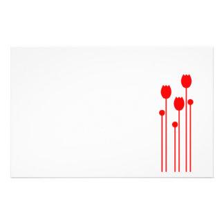 Papel de nota design tulpe vermelho conversas pape papel personalizado