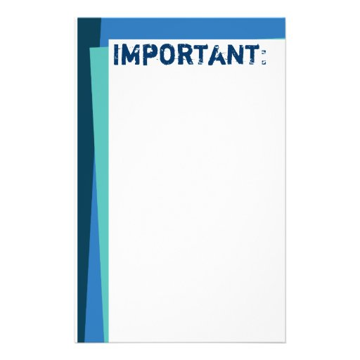 Papel de nota do azul & do Aqua Papel Personalizados