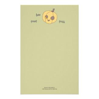 Papel de nota do Dia das Bruxas da abóbora da vaia Papelaria