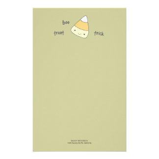Papel de nota do Dia das Bruxas do milho de doces  Papeis Personalizados