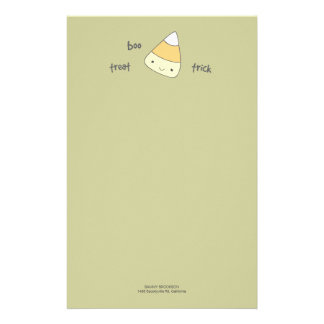 Papel de nota do Dia das Bruxas do milho de doces Papelaria