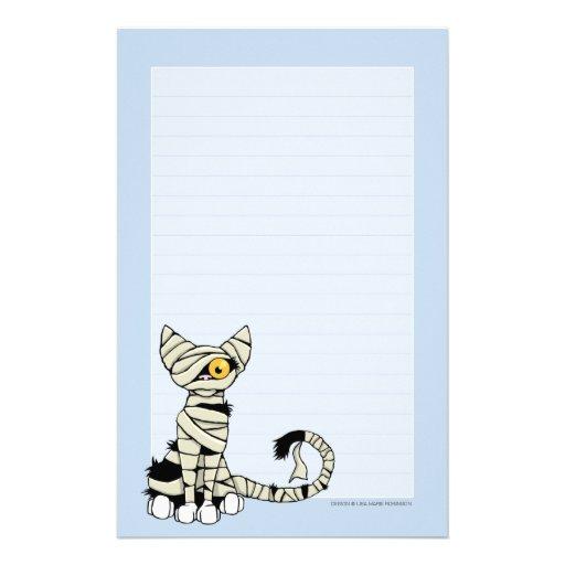Papel de nota do gato | o Dia das Bruxas da mamã a Papelaria Personalizada
