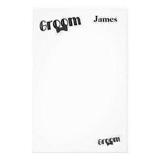 Papel de nota dos artigos de papelaria do casament