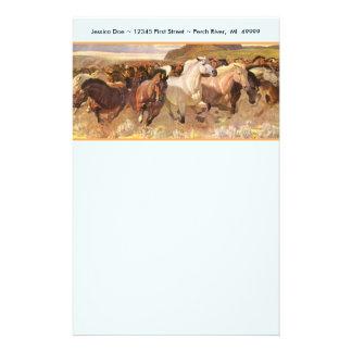 Papel de nota dos artigos de papelaria do mustang
