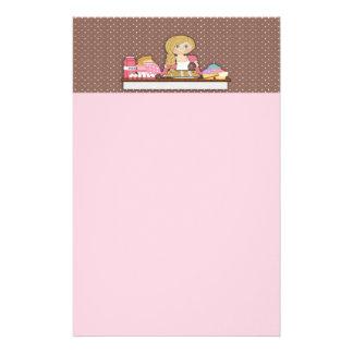 Papel de nota dos cupcakes do padeiro papelaria