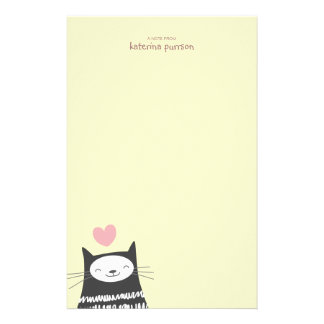Papel de nota feliz de Personalizable do gato de K Papel Personalizado
