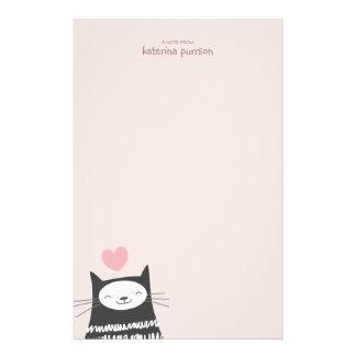 Papel de nota feliz de Personalizable do gato de K Papel Personalizados