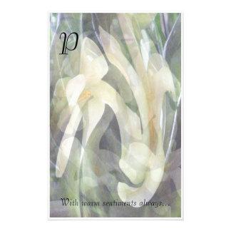 Papel de nota personalizado flor da papaia papel personalizados