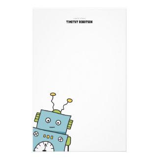 Papel de nota tirado mão de Personalizable do robô Papel Personalizados