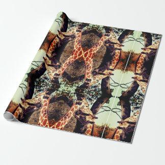 Papel de papel de embrulho do girafa