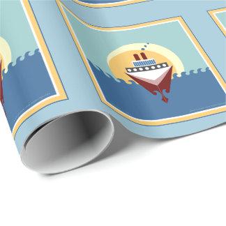 Papel de papel de embrulho do navio de cruzeiros