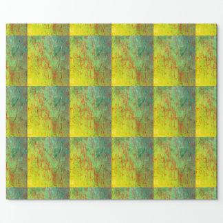 Papel de papel de embrulho do verde limão, grade,