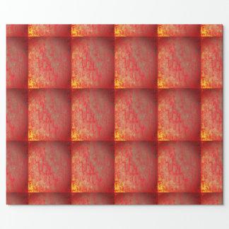 Papel de papel de embrulho dourado e vermelho da