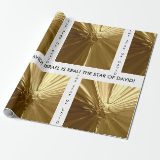 Papel de papel de embrulho - ESTRELA DE DAVID