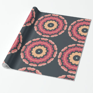 Papel de papel de embrulho floral geométrico