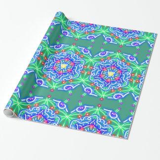 Papel de papel de embrulho ideal azul