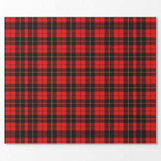 Papel de papel de embrulho vermelho da xadrez de