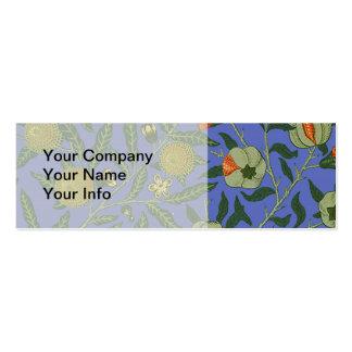 Papel de parede botânico do teste padrão da romã cartão de visita skinny