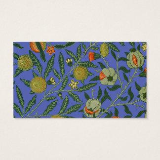Papel de parede botânico do teste padrão da romã cartão de visitas