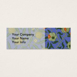 Papel de parede botânico do teste padrão da romã cartão de visitas mini