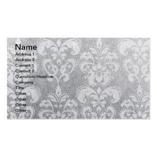 Papel de parede cinzento do Grunge Cartões De Visitas
