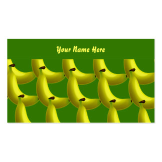 Papel de parede da banana, seu nome aqui cartão de visita
