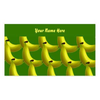 Papel de parede da banana, seu nome aqui cartões de visita