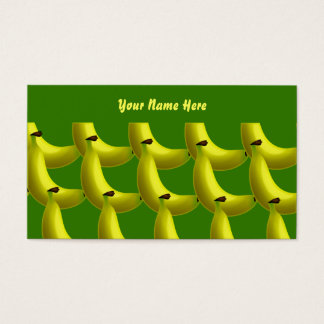 Papel de parede da banana, seu nome aqui cartão de visitas
