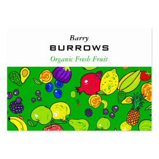 Papel de parede da fruta cartão de visita grande