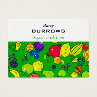 Papel de parede da fruta cartão de visitas