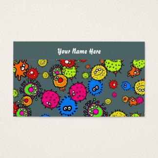 Papel de parede das bactérias, seu nome aqui cartão de visitas