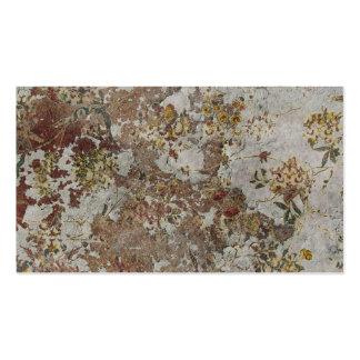 Papel de parede deteriorado da flor cartões de visita