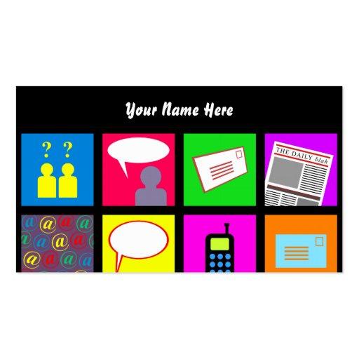 Papel de parede do azulejo de uma comunicação, seu cartao de visita