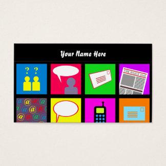 Papel de parede do azulejo de uma comunicação, seu cartão de visitas