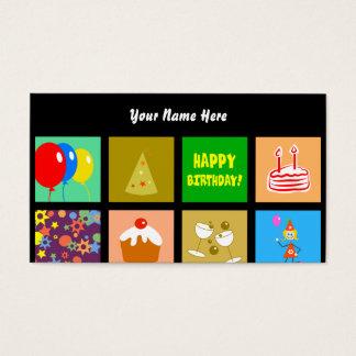 Papel de parede do azulejo do aniversário, seu cartão de visitas