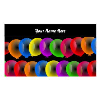 Papel de parede do balão, seu nome aqui cartão de visita