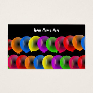 Papel de parede do balão, seu nome aqui cartão de visitas