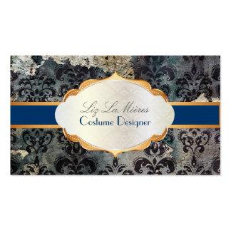 Papel de parede do damasco dos lys do vintage de P Cartão De Visita