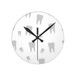 Papel de parede do dente para o dentista relógios para paredes