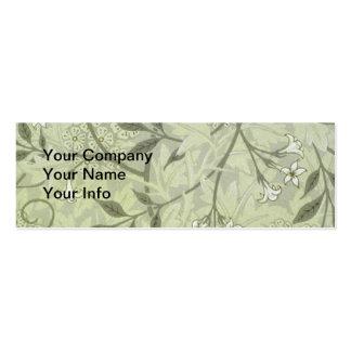 Papel de parede do jasmim de William Morris Cartão De Visita Skinny