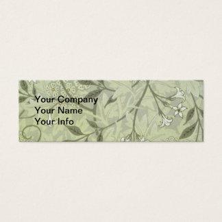 Papel de parede do jasmim de William Morris Cartão De Visitas Mini