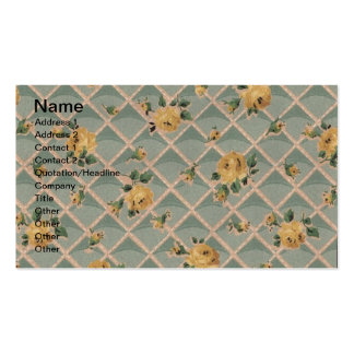 Papel de parede do rosa amarelo do vintage modelos cartão de visita