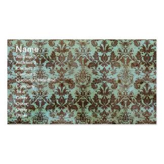 Papel de parede do vintage do chocolate e da horte modelos cartões de visita