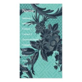 Papel de parede do vintage floral cartão de visita