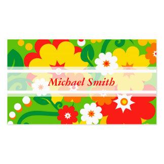 Papel de parede engraçado de flower power + seu cartão de visita